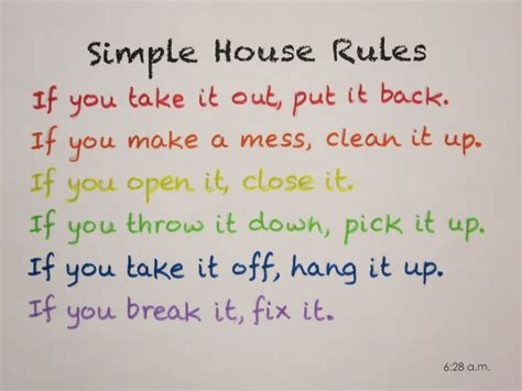 house rules for kids simple house rules for my kids organisation handy hints pint