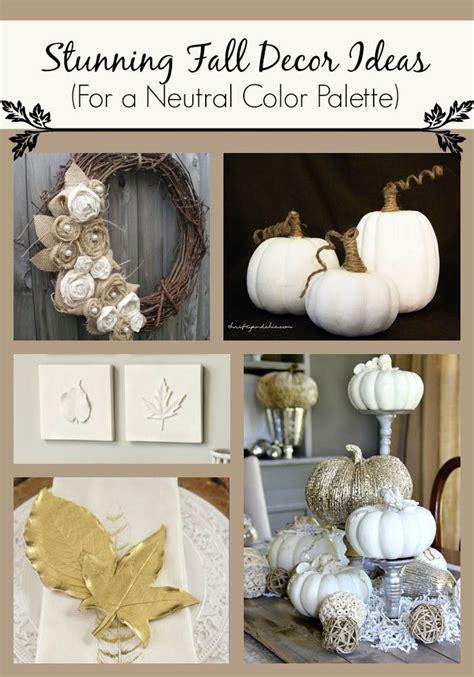 Pumpkin Colored Curtains Decorating 25 Fall Decor Ideas For A Neutral Color Palette Pumpkins Burlap Flower Wreaths And The