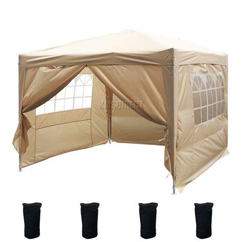 pop up awning tent foxhunter waterproof 3x3m pop up gazebo marquee garden