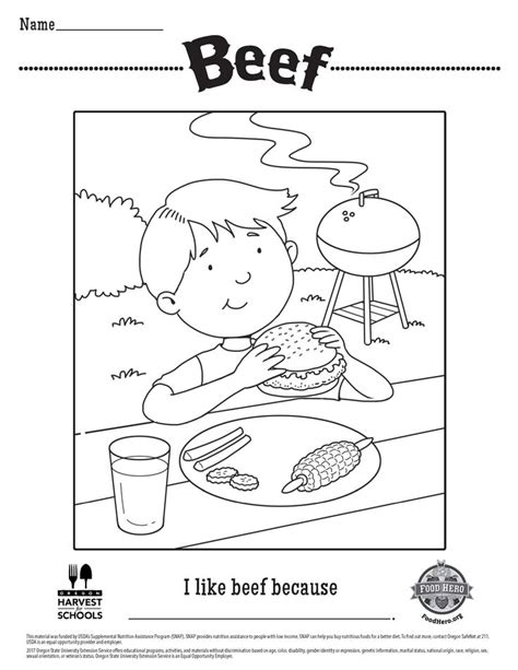Cattle Coloring Pages   Beef Coloring Page