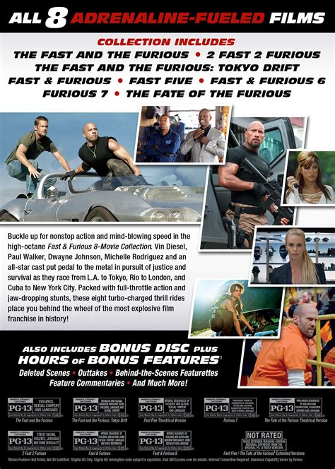 Fast Furious Collection fast furious 6 page dvd digital hd
