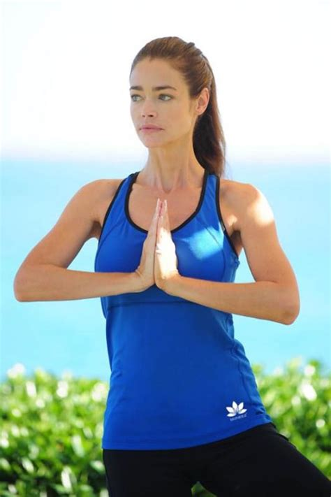 denise richards body denise richards doing yoga