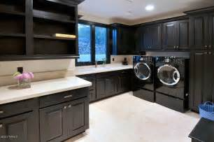 Kitchen Cabinet Layout Designer modern laundry room with concrete tile amp farmhouse sink in