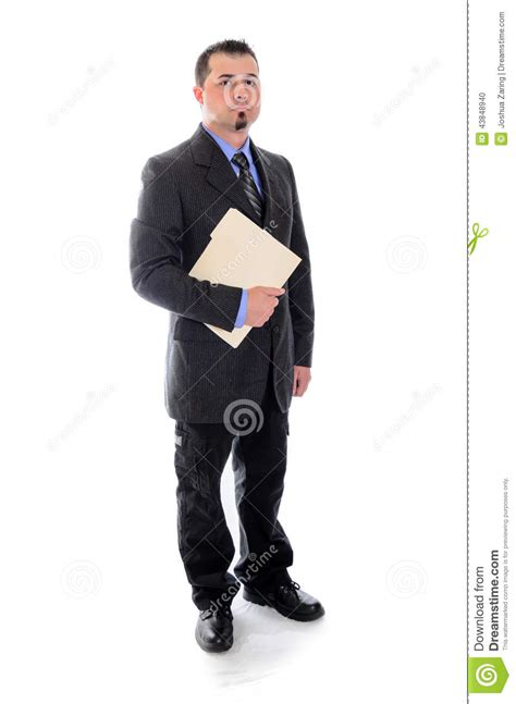 file suit man in suit holding file folder stock photo image 43848940