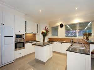 Kitchen Design Layouts With Islands Retro U Shaped Kitchen Design Using Granite Kitchen