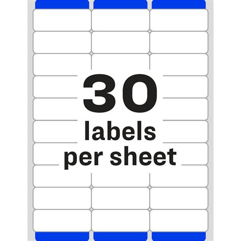Avery White Easy Peel Address Labels Ave05260 Q Connect Labels 8 Per Sheet Template