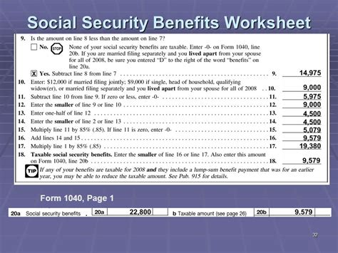 Social Security Spreadsheet social security benefits worksheet calculator worksheets