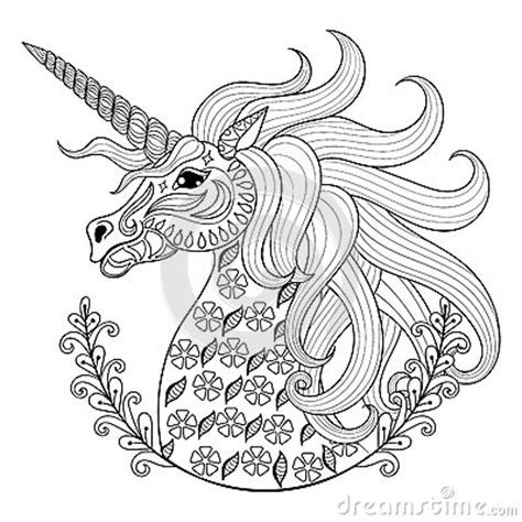 unicorn mandala coloring pages hand drawing unicorn for adult anti stress coloring pages
