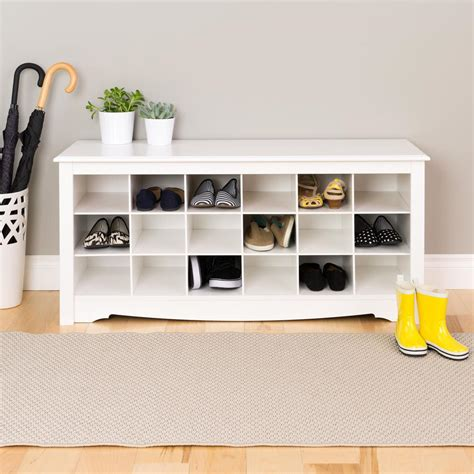 prepac shoe bench prepac monterey shoe storage cubbie bench wss 4824 the