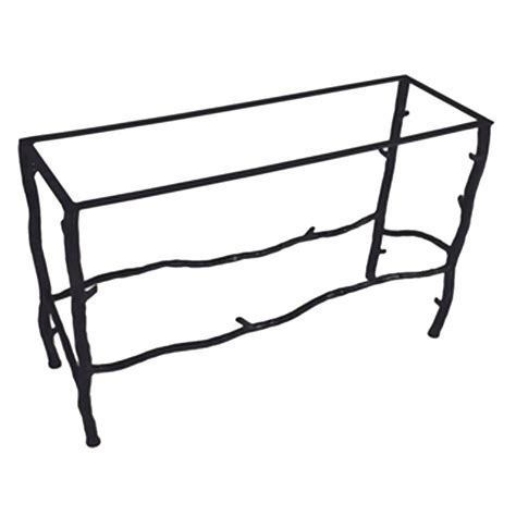 iron sofa table base pictured here is the south fork console table base only
