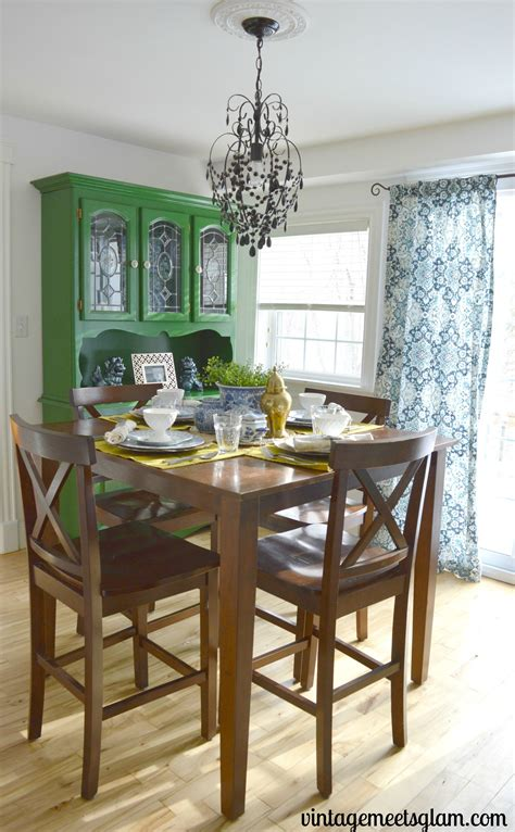 eclectic dining room reveal vintagemeetsglam