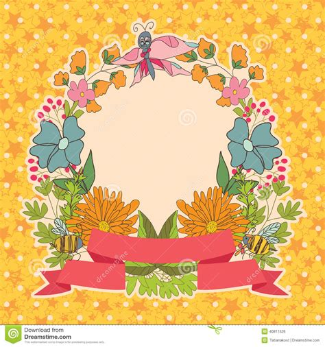 Chic Floral Orange And Thanksgiving Place Cards Template by Stylish Vintage Floral Frame With Butterflies On