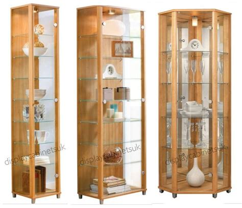 corner display cabinet glass oak glass display cabinet single corner display