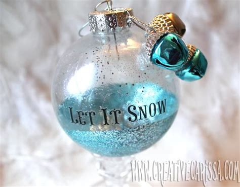 glitter glass ornaments christmas diy christmas