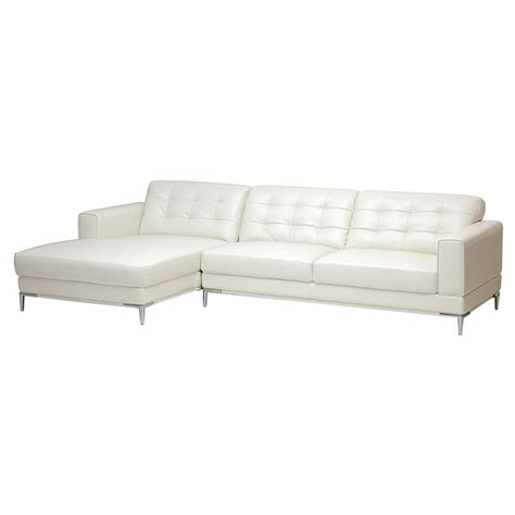 Left Facing Chaise Sectional Sofa by Babbitt Sectional Sofa Ivory Leather Left Facing Chaise