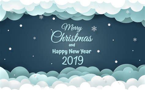word  merry christmas  happy  year  vector premium