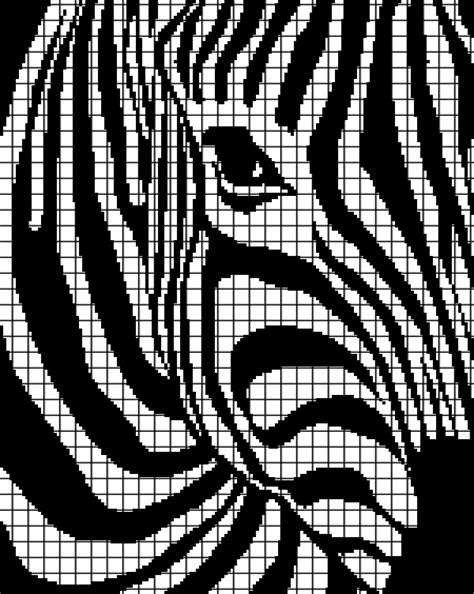 zebra pattern words zebra chart graph and row by row written crochet