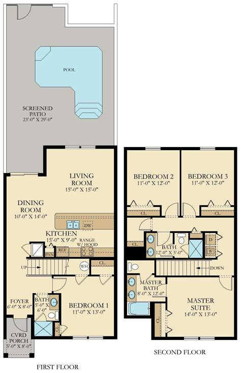 townhouse floor plans with garage researchpaperhouse com lennar townhomes floor plans