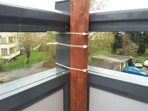 idee windschutz balkon