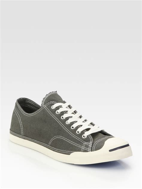 converse grey sneakers converse purcell low profile oxford sneakers in gray