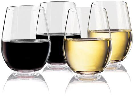 Unbreakable Barware by Vivocci Unbreakable Plastic Stemless Wine Glasses