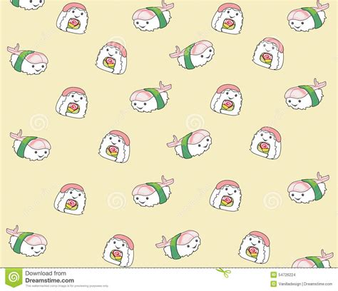 meal pattern of japanese cuisine japanese food cartoon seamless pattern background stock