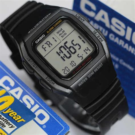 Jam Tangan Led One jam tangan casio digital w 96h tali karet original