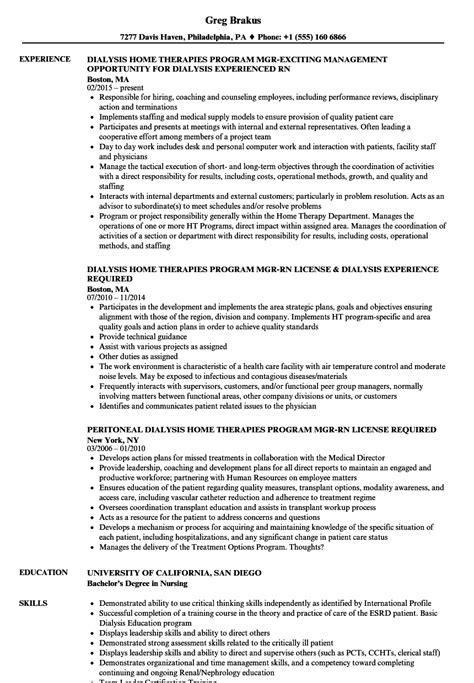 Acute Dialysis Rn by Acute Dialysis Sle Resume What To Include In A