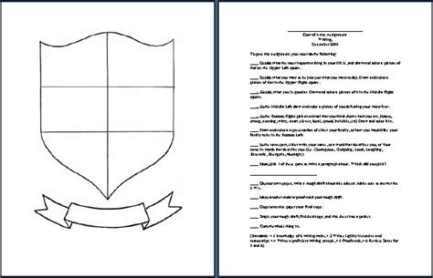 coat of arms printable template magazine blank shield outline