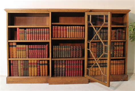 4 Foot High Bookcase Breakfront Oak Floor Bookcase 4ft High