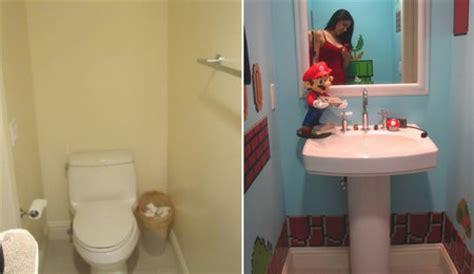 mario bros bathroom super mario bros comes alive in this bathroom decor