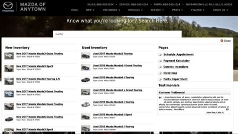 site mazda certified mazda website advertising provider dealer eprocess