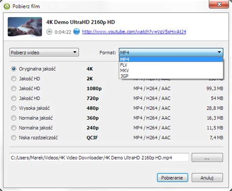 video format za youtube 4k video downloader w praktyce softonet pl