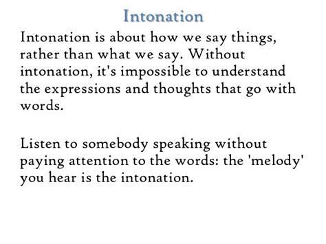 vocal pattern definition intonation