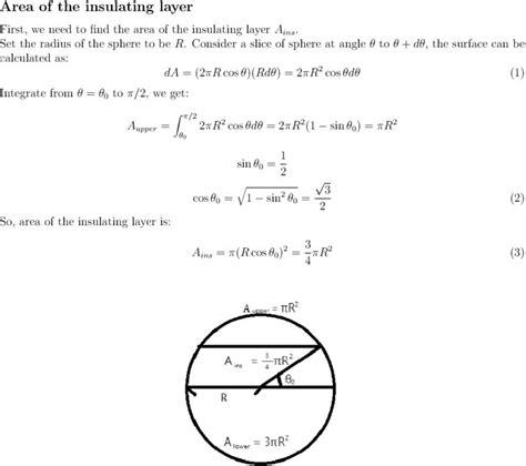 spherical capacitor derivation sphere surface area equation jennarocca
