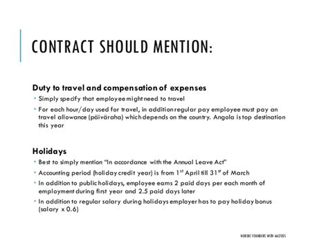 Letter Of Agreement For Travel Startup Employment Contracts And Actual Cost Of Hiring Nordi