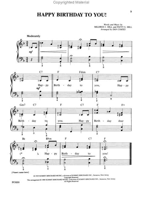 download happy birthday piano music mp3 patty hill free sheet music to download in pdf mp3 midi