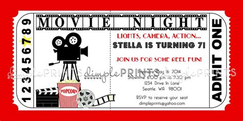 movie ticket birthday invitations ideas bagvania free