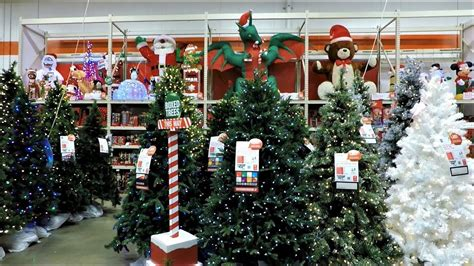 4k christmas section at home depot christmas shopping