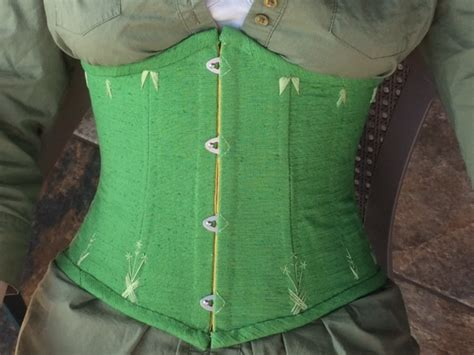 sewing pattern underbust corset spring green underbust corset sewing projects