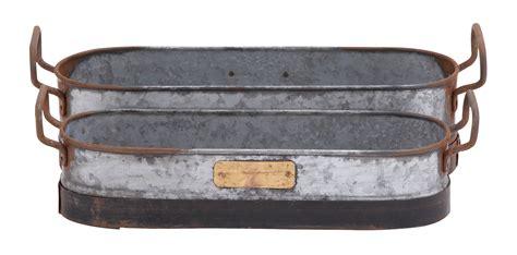 Planter Trays by Galvanized Metal Planter Tray Set