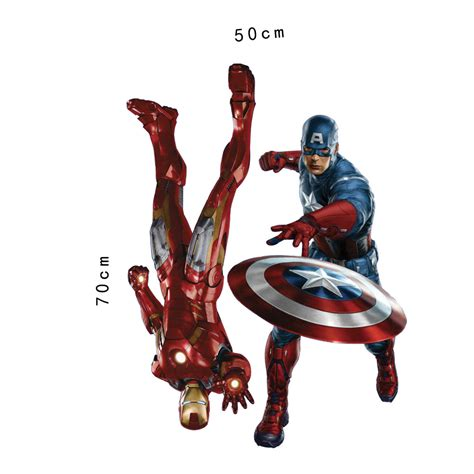 marvel s the avengers wall sticker decals for kids room marvel s the avengers iron man 3d wall stickers room mural