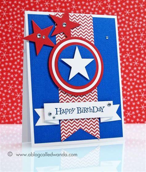Captain America Birthday Card Captain America Birthday Card Cards Stars Pinterest