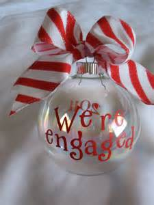 items similar to we re engaged christmas ornament on etsy