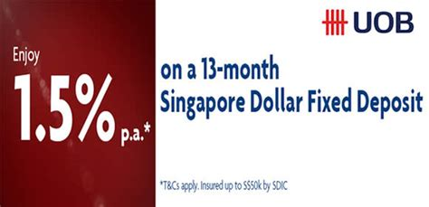 uob singapore new year promotion uob 1 5 p a 13 mth fixed deposit promo from 1 30 jul 2016