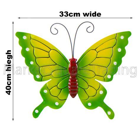 garden metal wall butterfly butterflies garden decoration multi coloured metal outdoor