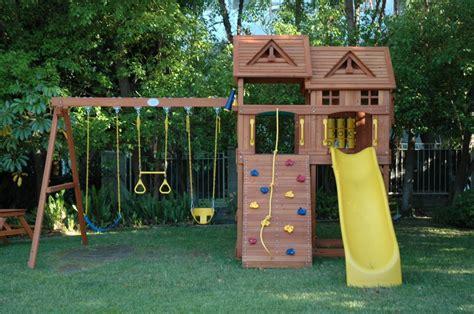 children s swing and slide sets marvelous kids playhouse plans inspiring design integrate