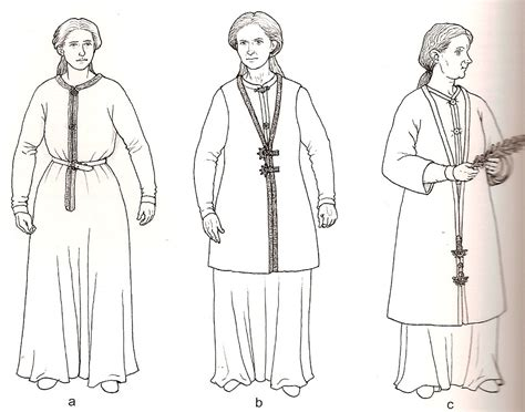 viking anglo saxon hairstyles from rogers penelope walton cloth and clothing in early