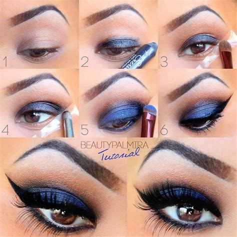 eyeshadow tutorial art blue eye makeup for brown eyes pictures photos and
