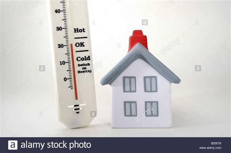 Temperature In This Room by House With Thermometer Showing 20 Degrees Celcius Room